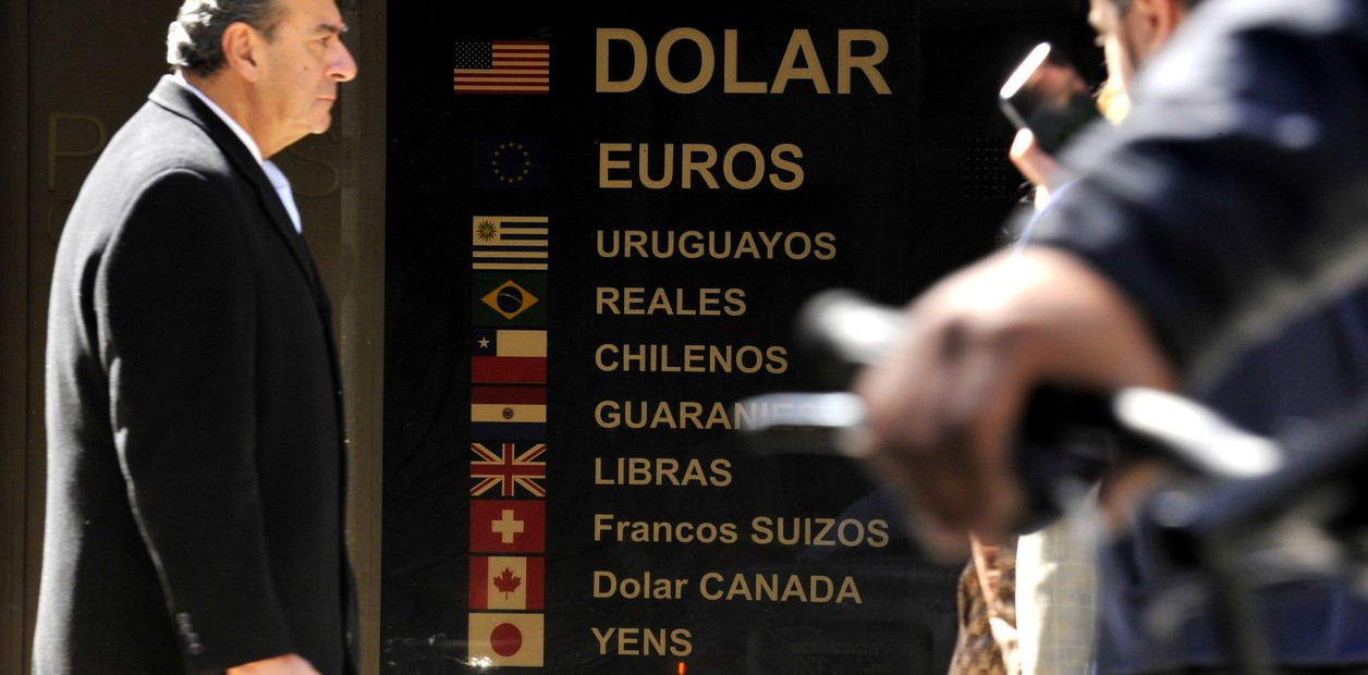 Cotización del dolar en la city porteña. 04.09.2018 Foto Maxi Failla